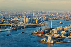 Cityscape of Osaka Bay Royalty Free Stock Photos