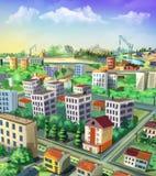 cityscape ovanför sikt Arkivbilder