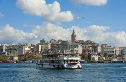 Cityscape over Bosphorus in Istanbul Royalty Free Stock Photography