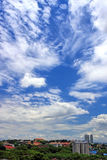 Cityscape Over Cloudy Blue Sky Royalty Free Stock Photography