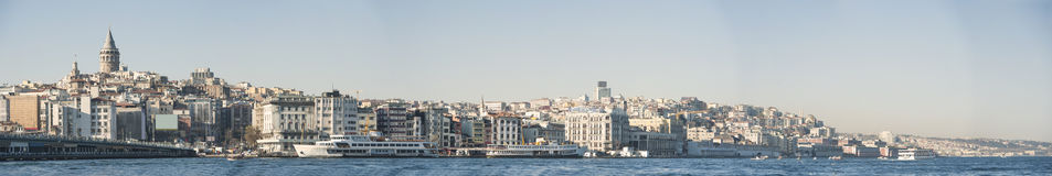 Cityscape over Istanbul Turkey and Bosphorus Stock Images