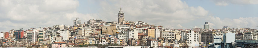 Cityscape over Istanbul Turkey and Bosphorus Stock Image