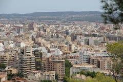 Cityscape over Palma de Mallorca, Spain Stock Photo