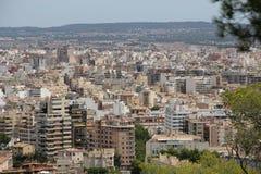 Cityscape over Palma de Mallorca, Spain Royalty Free Stock Photography