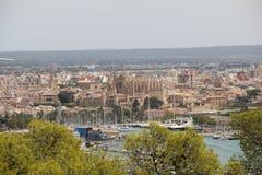 Cityscape over Palma de Mallorca, Spain Stock Image