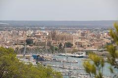 Cityscape over Palma de Mallorca, Spain Stock Photography