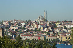 Cityscape over a residential area of Istanbul Stock Photos