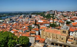 Cityscape over the roofs of Coimbra Royalty Free Stock Photography