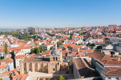 Cityscape over the roofs of Coimbra in Portugal Royalty Free Stock Photos
