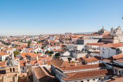 Cityscape over the roofs of Coimbra in Portugal Stock Image
