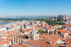 Cityscape over the roofs of Coimbra in Portugal Royalty Free Stock Photography