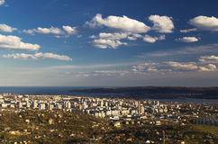 Cityscape over Varna city, Bulgaria Royalty Free Stock Photo
