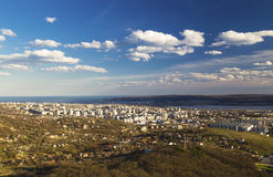 Cityscape over Varna city, Bulgaria Stock Image