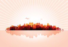 Cityscape overprint background Stock Photo