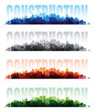 Cityscape overprint backgrounds Royalty Free Stock Photos