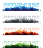 Cityscape overprint backgrounds Stock Photography