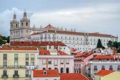 Cityscape på det Alfama området, Lissabon, Portugal arkivfoto
