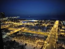 Cityscape på natten Royaltyfria Foton