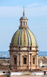 Cityscape of palermo with dome, the old town stock images