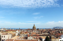 Cityscape of palermo with dome, the old town Royalty Free Stock Image