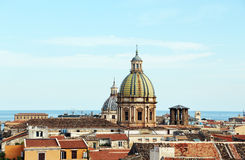 Cityscape of palermo with domes, the old town Stock Photo