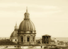 Cityscape of palermo with domes, the old town Royalty Free Stock Images