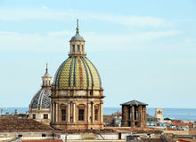 Cityscape of palermo with domes, the old town Royalty Free Stock Image