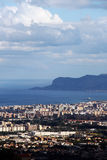 Cityscape of palermo with the gulf, dramatic sky Royalty Free Stock Images