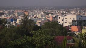 Cityscape panorama, Hyderabad stock video footage
