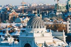 Cityscape panorama of Kazan royalty free stock photos