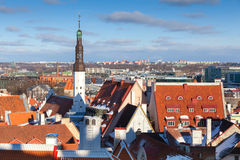 Cityscape panorama of Old Tallinn, Estonia Stock Images