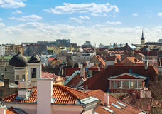 Cityscape panorama of Old Tallinn, Estonia Royalty Free Stock Photos