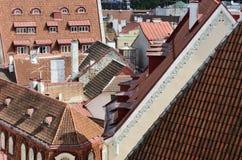 Cityscape panorama of old town Tallinn, Estonia Stock Images