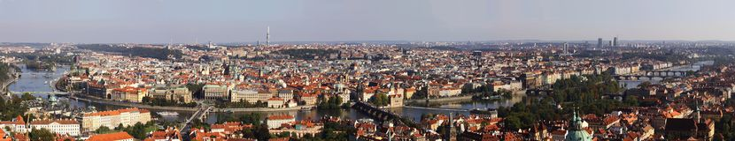 Cityscape panorama of Prague Royalty Free Stock Photography
