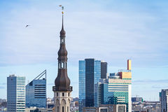Cityscape panorama of Tallinn, Estonia Royalty Free Stock Image