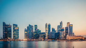 Cityscape in Panoramic Photography Royalty Free Stock Photo
