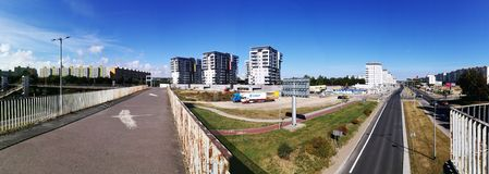 Cityscape panoramic view. Royalty Free Stock Photography