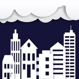 Cityscape paper art style. City concept. Vector illustration Royalty Free Stock Photography