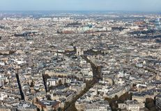 Cityscape of Paris City Royalty Free Stock Image