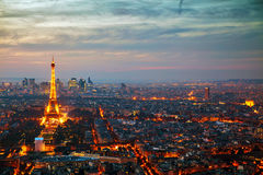 Cityscape of Paris with the Eiffel tower Stock Photo