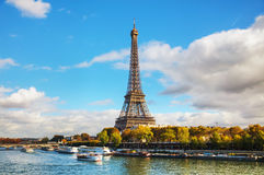 Cityscape of Paris with the Eiffel tower. On a sunny day Stock Photos