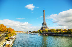 Cityscape of Paris with the Eiffel tower Royalty Free Stock Image