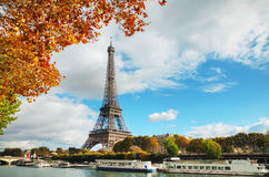Cityscape of Paris with the Eiffel tower. On a sunny day Stock Photography
