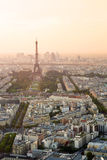 Cityscape of Paris with Eiffel tower Royalty Free Stock Photo