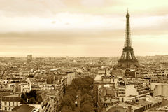 Cityscape of Paris France stock image