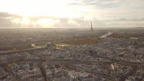 Cityscape of Paris stock footage