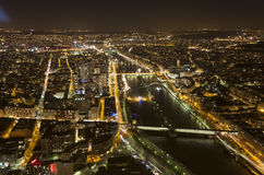 Cityscape of Paris, France at night Stock Image