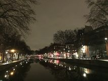 Cityscape of Paris by night royalty free stock images