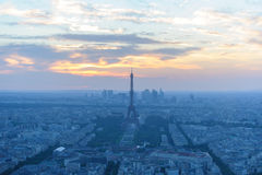Cityscape of paris at night Stock Photography