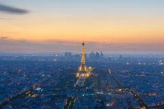 Cityscape of paris at night Royalty Free Stock Images
